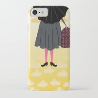 mary poppins iPhone & iPod Cases featuring Mary Poppins by Prelude Posters