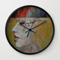 queen Wall Clocks featuring Queen by Michael Creese