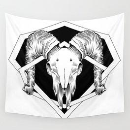 ram skull 2 Wall Tapestry