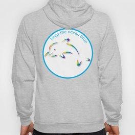 Keep the Ocean Blue_Rainbow Dolphin_G Hoody