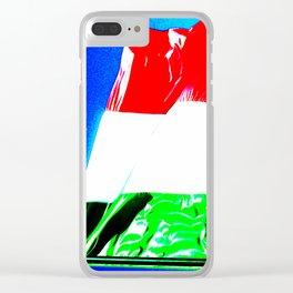 Italian tricolor flag pop Clear iPhone Case