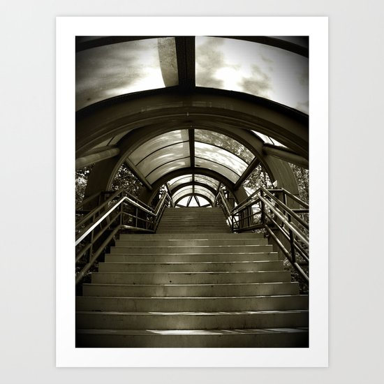 Elephant Stairs Art Print