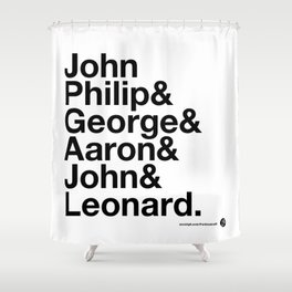American Composers v2 Shower Curtain