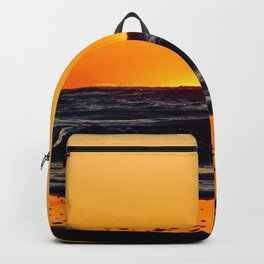 Orange Sunset on the Beach Backpack