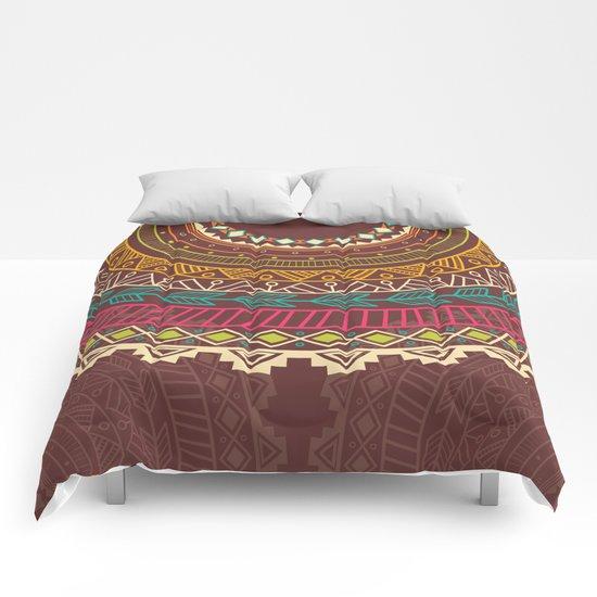 Aztec ornament Comforters