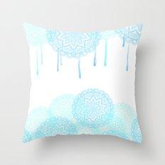 Seaside mandala Throw Pillow