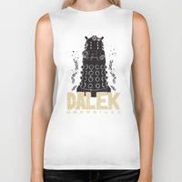 dalek Biker Tanks featuring Dalek Unchained by Moysche Designs