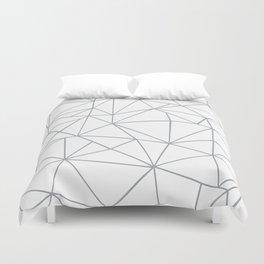 Ab Outline 2 Grey on White Duvet Cover
