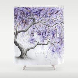 Purple Prosperity Tree Shower Curtain