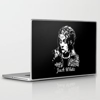 jack white Laptop & iPad Skins featuring Jack White III by CromMorc