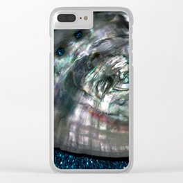OysterInBlue Clear iPhone Case