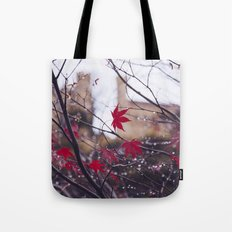 Blood Red Autumn Tote Bag