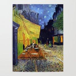Van Gogh, Café Terrace at Night 1888 Artwork Reproduction, Posters, Tshirts, Prints, Bags, Men, Wome Poster