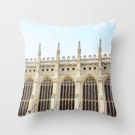 King's College Chapel, Cambridge Throw Pillow