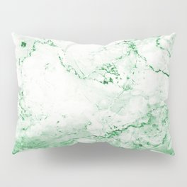 Vintage Green Marble Pillow Sham