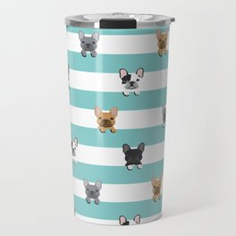 French Bulldog stripes Travel Mug