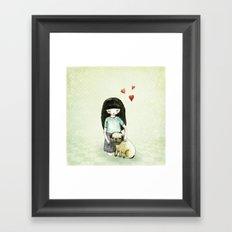 Pug is my best friend Framed Art Print