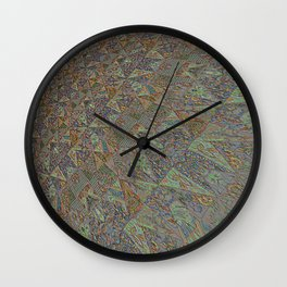 Patchwork hint of rGreen Wall Clock