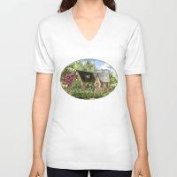 kentucky V-neck T-shirts featuring Tudor House on Kentucky Avenue by Shelley Ylst Art