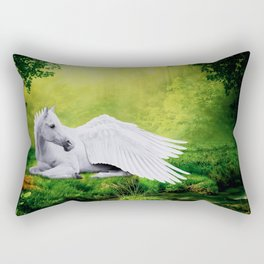 Pegasus By The Stream Rectangular Pillow