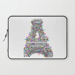 Paris Eiffel Tower Holiday Lights Multi Laptop Sleeve