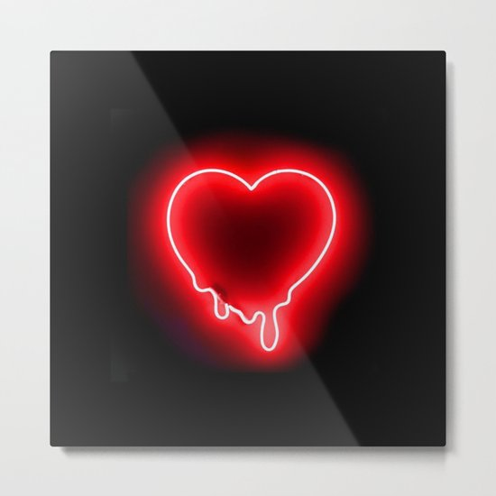 Heart (Neon-Red Edition) Metal Print