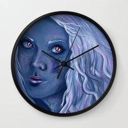 Blue Tower Wall Clock