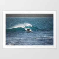 surfer Art Prints featuring Surfer by MapMaster