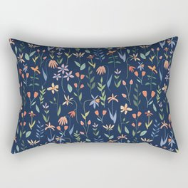 Wildflowers in the Air Navy Rectangular Pillow