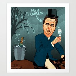 David Cameron Art Print