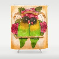 valentines Shower Curtains featuring Valentines  by Izumigee