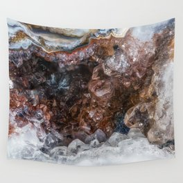 Tiny geode crystal cave Wall Tapestry