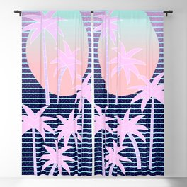 Hello Miami Moonlight Blackout Curtain