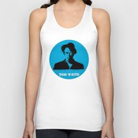tom waits Tank Tops featuring Tom Waits Record Painting by All Surfaces Design