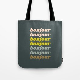Bonjour in Pretty Pastels Tote Bag