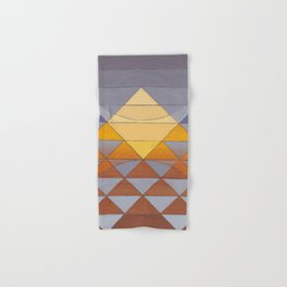 Pyramid Sun Mauve Purple Hand & Bath Towel