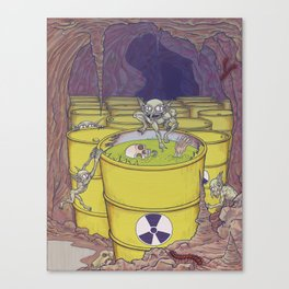 Radioactive Goblins Canvas Print