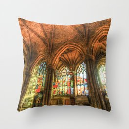 Winter Sun Cathedral Throw Pillow