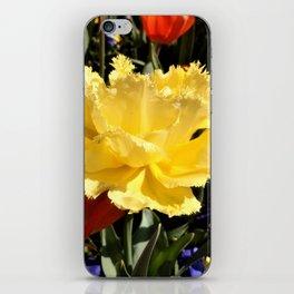 Happy Yellow Tulip iPhone Skin