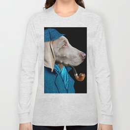 Dog Sherlock Holmes Long Sleeve T-shirt