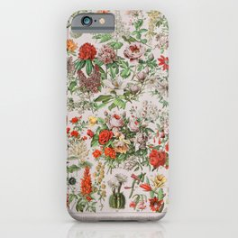 Fleurs Vintage Poster iPhone Case