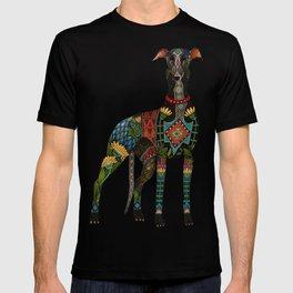 greyhound orange T-shirt
