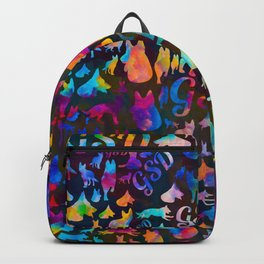 German Shepherd Dog GSD -Watercolor Silhouettes Backpack
