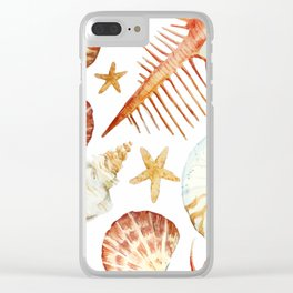 Sea Life Pattern 09 Clear iPhone Case