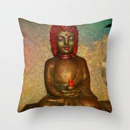 Little Buddha Throw Pillow