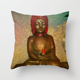 Little Buddha Throw Pillow
