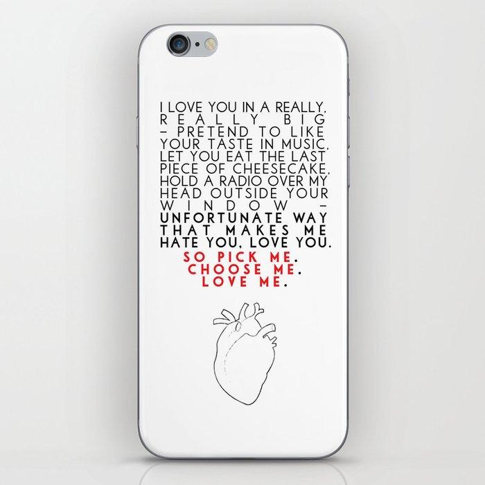 Grey's Anatomy - Pick Me, Choose Me, Love Me. iPhone Skin by frankiecope