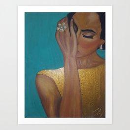 Anita - Golden Woman Art Print