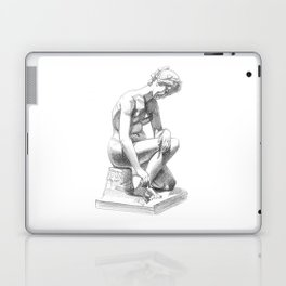 Girl with snail, Musee de Picardie. Laptop & iPad Skin