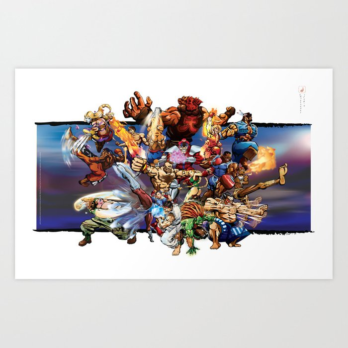 The Street Fighter Tribute Mixtape Art Print